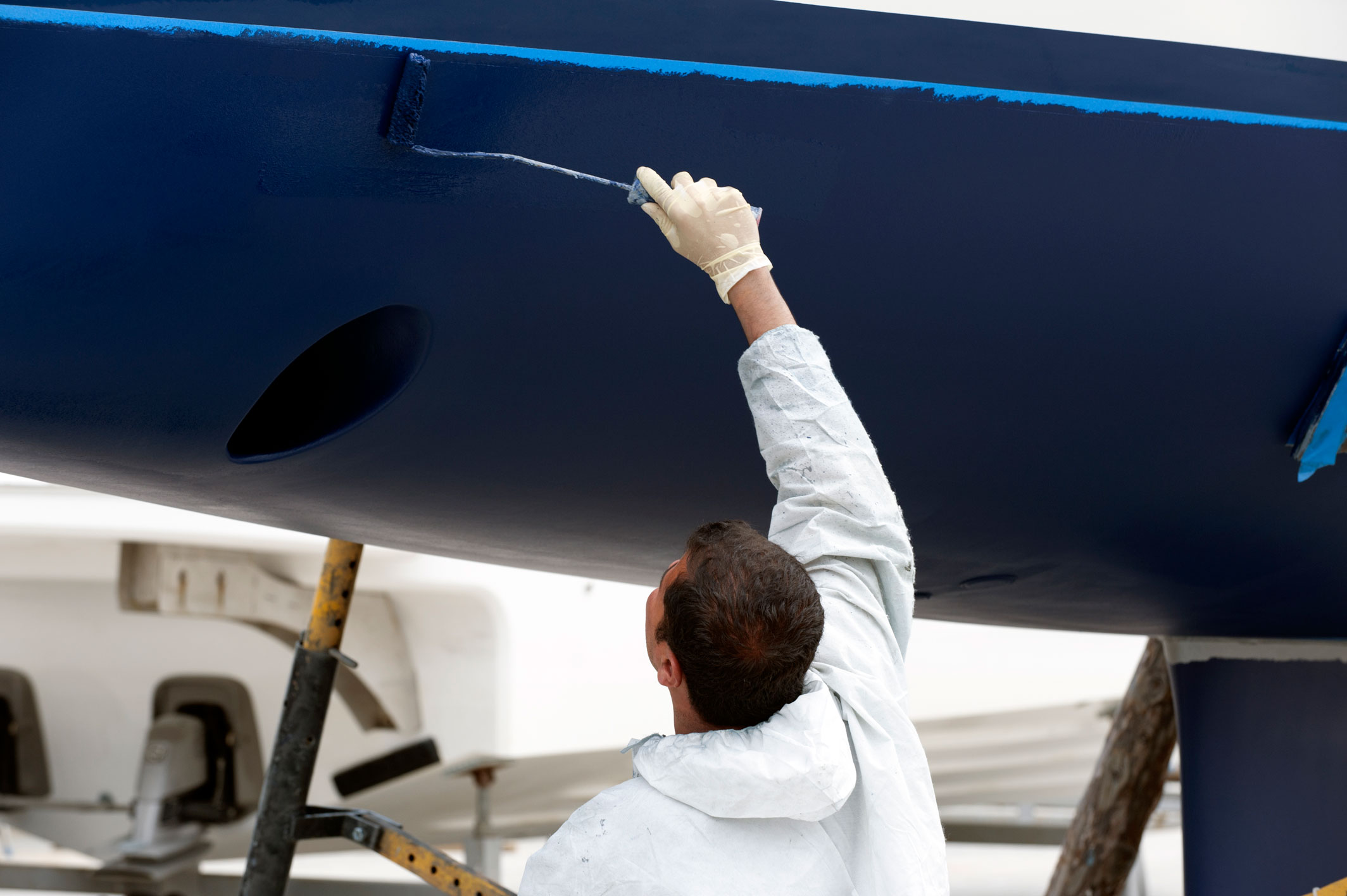 luxury yacht maintenance at the marina